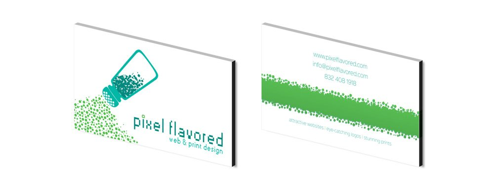 Pixel Flavored Business Card